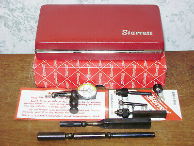 Starrett Last Word Dial Indicator No 711 W Case-box Attachments - New Old Stock