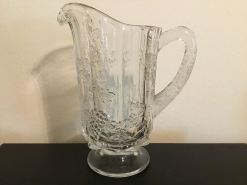 "Westmoreland Vintage Panel Grape pattern 9"" Tall Pitcher"
