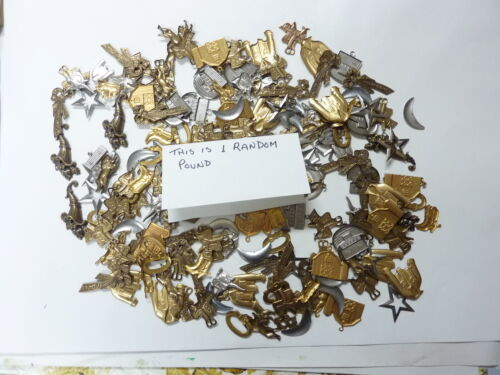 brass stampings findings for crafts ONE FULL POUND