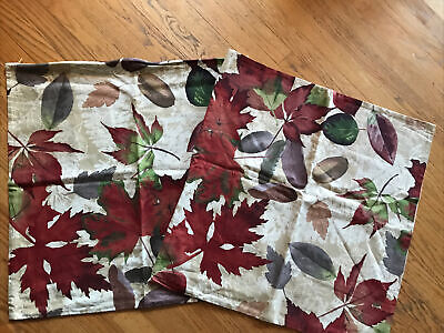 """NEW Pottery Barn Windswept Leaves Pillow Cover Fall Autumn Thanksgiving 24"""" Sq"""