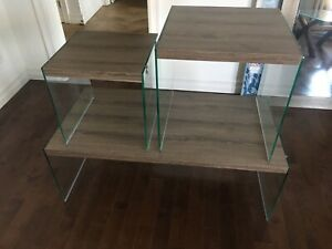 Coffee table with two nesting tables