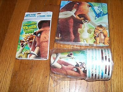 Ice Age Dawn Dinosaur Birthday Party Supplies 3pc Lot Party Express NOS ()