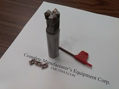 34 90 Degree Indexable End Mill 34x3-12 3 Inserts Sandvik R390 506-sdvk