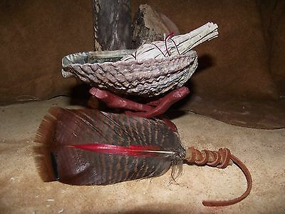 ABALONE SHELL CALIFORNIA WHITE SAGE SMUDGE KIT SHAMAN SMUDGING MEDIUM