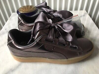 Puma Basket Heart Luxe Quiet Shade Trainers Sneakers UK 6 / EU 39 / USA 8.5 New