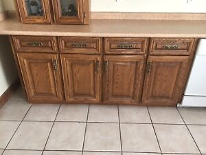 Used kitchen cupboards , solid wood for sale,