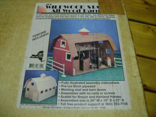 Dollhouse Miniature Barn Un-Assembled wood kit  RARE item  Never opened