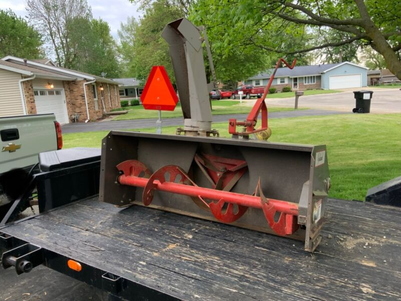 60inch PTO powered INLAND snow blower 3 point attachment