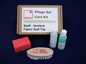 Cabrio Stoff Verdeck Reiniger Imprägnierer Reinigung Imprägnierung Pflege Set