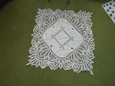 VINTAGE EDWARDIAN TAPED LACE  AFTERNOON  TEA / SUPPER CLOTH