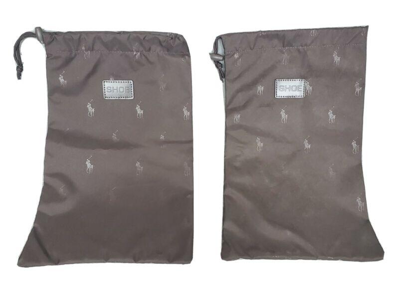 """Ralph Lauren Espresso Brown Shoe Bags 15.5"""" X 9.5"""""""