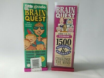 2 Brain Quest Trivia Game Sets 5th and 7th Grade Questions Answers Educational