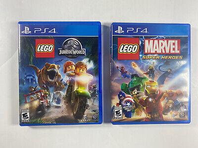 Lot of 2 Playstation PS4 Games LEGO MARVEL SUPER HEROES & LEGO JURASSIC WORLD
