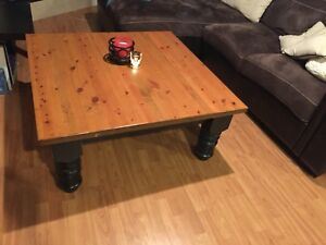 Square Coffee Table-Solid Wood