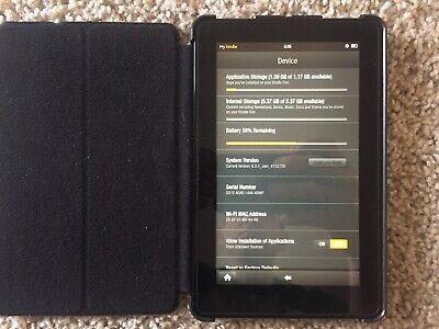 Amazon Kindle Fire (Ver D01E),Wi-Fi, 7in - Black (2011)
