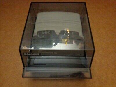 Vintage Rolodex S-310 C Business Card File Box