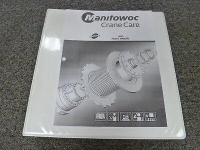Manitowoc Model 18000 Lattice Boom Crawler Crane Parts Catalog Manual Book