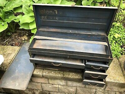 Park Vtg Steelmaster Metal Cabinet Industrial Machinist Tool Box Sherman Kennedy