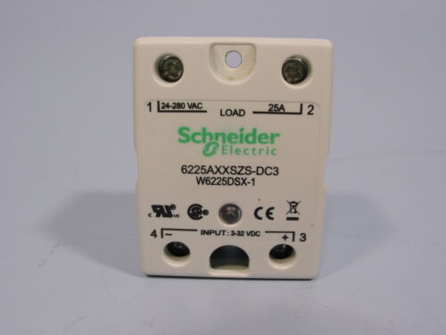 Schneider Electric 6225AXXSZS-DC3 Solid State Relay SPST-NO, 25 A, 280 VAC