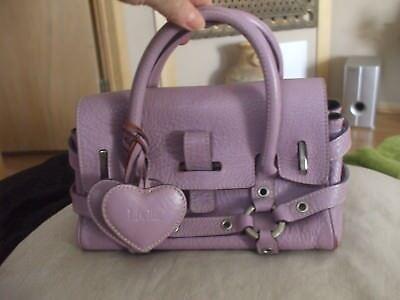 Luella lilac purple leather handbag hanging hearts buckle baguette purse #242 Buckle Baguette Handbag