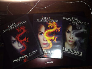 Original Girl with Dragon Tattoo trilogy DVDs