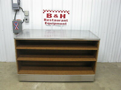 5 Stainless Steel Top Heavy Duty Wood Work Table Cabinet W Triple Under Shelf