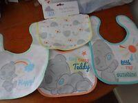 Pack Of 4 Tiny Tatty Teddy Cotton Bibs -  - ebay.co.uk