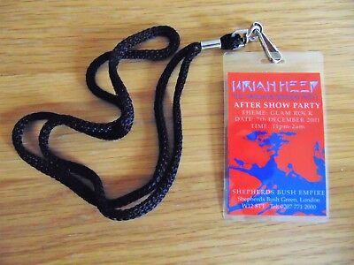 Badge: Uriah Heep : Magicians Birthday After Show Party Lanyard : Very Rare