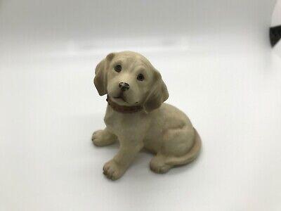 Yellow Labrador Sitting Puppy Dog Figurines