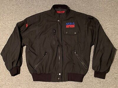 Vintage NHRA Championship Drag Racing Top Eliminator Jacket L Hot Rod race (Drag Racing Jackets For Men)