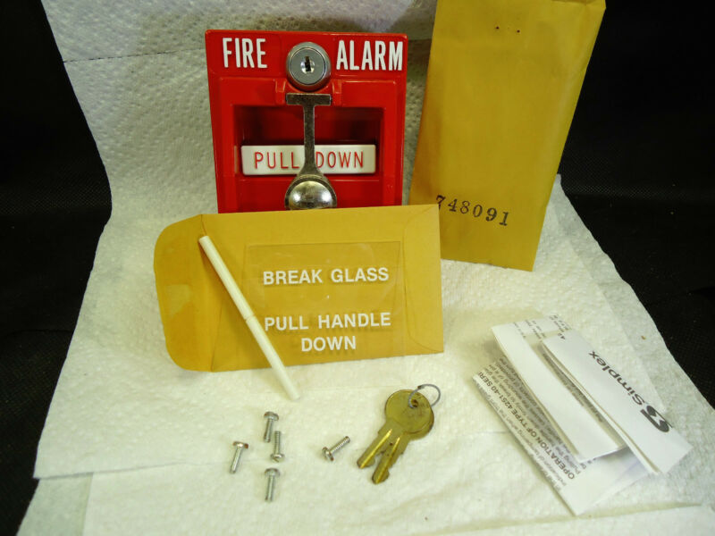 NEW SIMPLEX  4251-30 DOUBLE-ACTION BREAK-GLASS FIRE ALARM PULL STATION