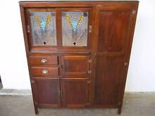 B35030 Vintage RETRO Oak Kitchen Cabinet Dresser Leadlight Doors Mount Barker Mount Barker Area Preview
