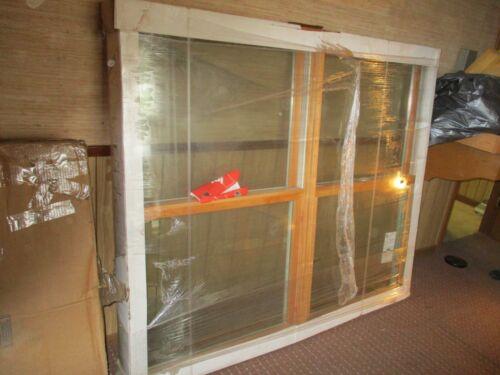 Marvin window,  72 x 60 new twin double hung double pane window, wood inside