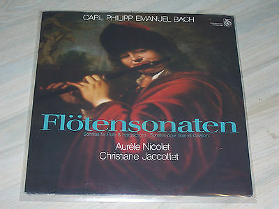 C.P.E. BACH - Flötensonaten / Nicolet, Jaccottet, OVP, still sealed ORBIS - LP !