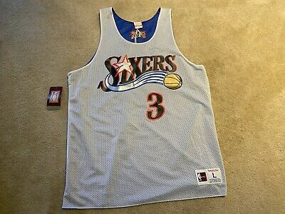 Philadelphia 76ers/East All-Star Allen Iverson REVERSIBLE Jersey - M Large - #3
