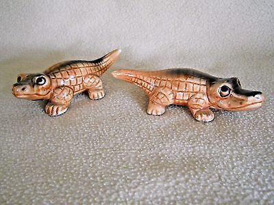 Vintage ELVIN Baby alligator salt & pepper shakers / Japan