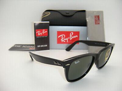 Authentic Ray Ban ORIGINAL WAYFARER RB 2140 901 54MM  BLACK  G-15XLT LARGE