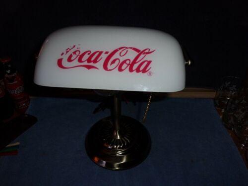COCA COLA Desk Lamp w/ White Shade