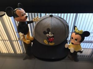 Classic Walt Disney Mickey Mouse toy lot. (3)
