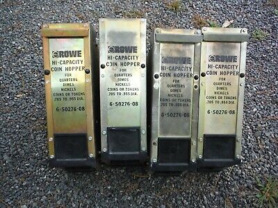 Lot Of 4 Rowe Bill Changer Hi-capacity Coin Hopper 6-50276-08