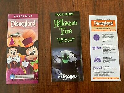 Halloween Times 2019 (2019 Disneyland Guide Map Halloween Time Food Times)