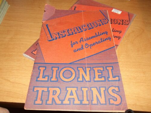 Lionel Trains Instructions for Assembling, 1941, Clean and complete, (D10)