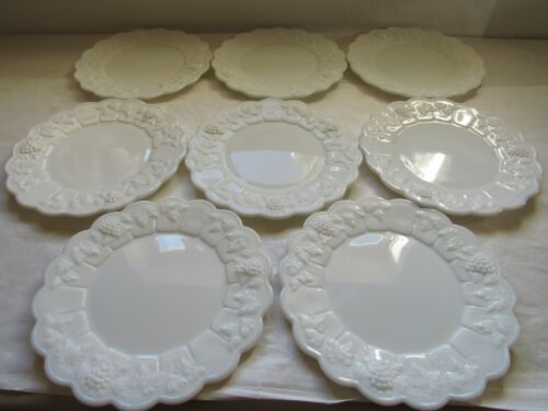 "Westmoreland Glass Paneled Grape 8.5"" Lunch / Salad Plates PG-80 (8)"