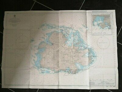 British Admiralty Chart 2064 ANTIGUA - WESTERN APPROACH - Printed 1985 - VGC