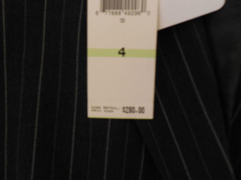 New JONES NY Sz 4 Black Pinstripe Pant Suit 280.00