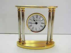 Elegant Howard Miller New Orleans 645-217 Table/Mantel/Desk Quartz Brass Clock