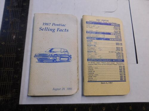 1987 PONTIAC SELLING FACT    2 BOOKLET
