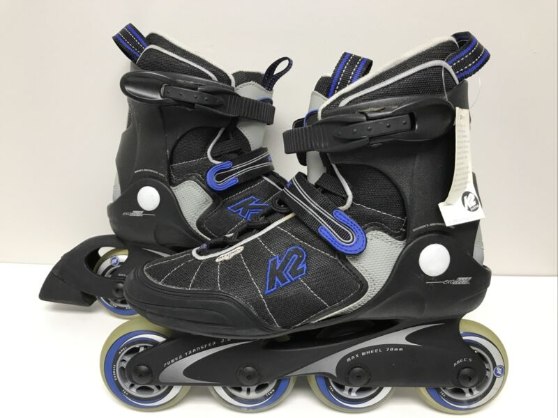 K2 Power Exotech Fit Logix Women's Roller Blades Inline Skates Size 8.5 abec 5