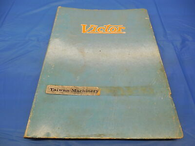 Victor 1630 Lathe Operating Manual And Parts List Taichung Machinery Works Co