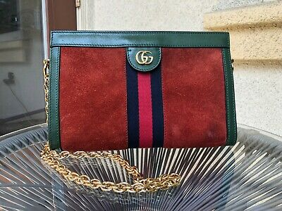 GUCCI Ophidia Chain Bucket Bag Suede Small